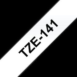 Brother TZe141 original etikettape, svart på genomskinlig, 18 mm