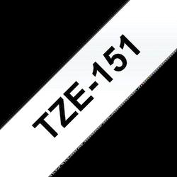 Brother TZe151 original etikettape, svart på gemomskinlig, 24 mm
