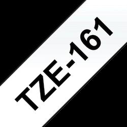 Brother TZe161 original etikettape, svart på genomskinlig, 36 mm