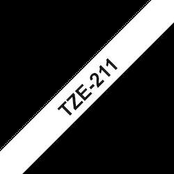 Brother TZe211 original etikettape, svart på vit, 6 mm