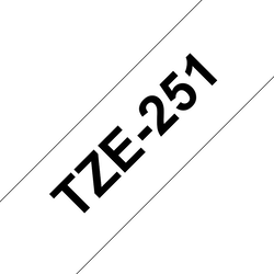 Brother TZe251 original etikettape, svart på vit, 24 mm