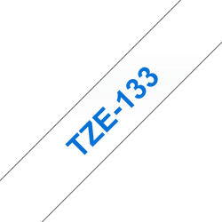 Brother TZe133 original etikettape blå på genomskinlig, 12 mm