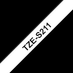 Brother TZeS211 original etikettape, svart på vit, 6 mm