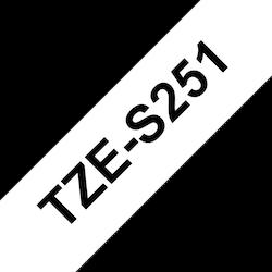 Brother TZeS251 original etikettape, svart på vit, 24 mm