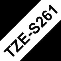 Brother TZeS261 original etikettape, svart på vit, 36 mm