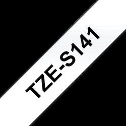 Brother TZeS141 original etikettape, svart på genomskinlig, 18 mm