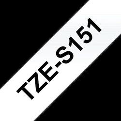 Brother TZES151 original etikettape, svart på genomskinlig, 24 mm