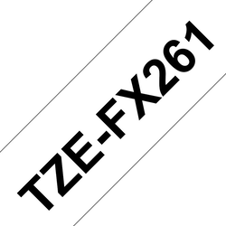 Brother TZeFX261 original etikettape, svart på vit, 36 mm