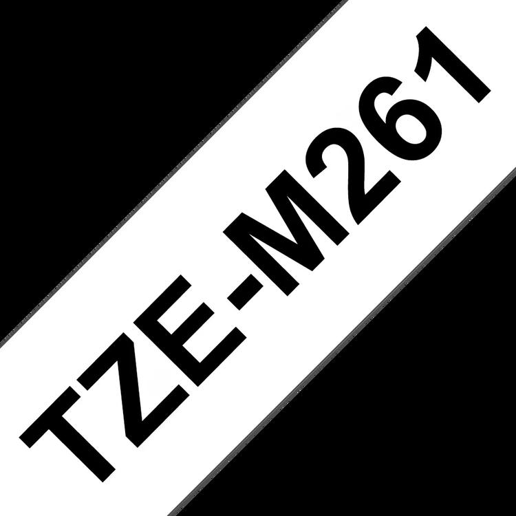 Brother TZeM261 original etikettape, svart på vit, 36 mm