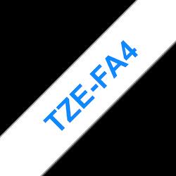 Brother TZeFA4 original tygtape, blå på vit, 18 mm