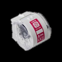 Brother CZ-1004 original fortlöpande etikettrulle, 25 mm