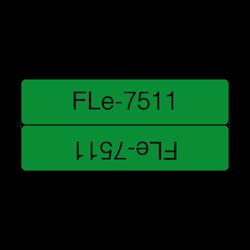 Brother FLE7511 orginal etikettape, svart på grön, 45x21 mm