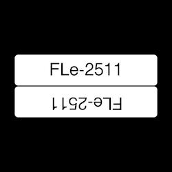 Brother FLE2511 orginal etikettape, svart på vit, 45x21 mm