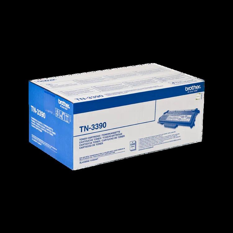 Brother TN-3390 original tonerkassett med hög kapacitet, Svart