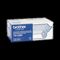 Brother TN3280 original tonerkassett hög kapacitet, svart