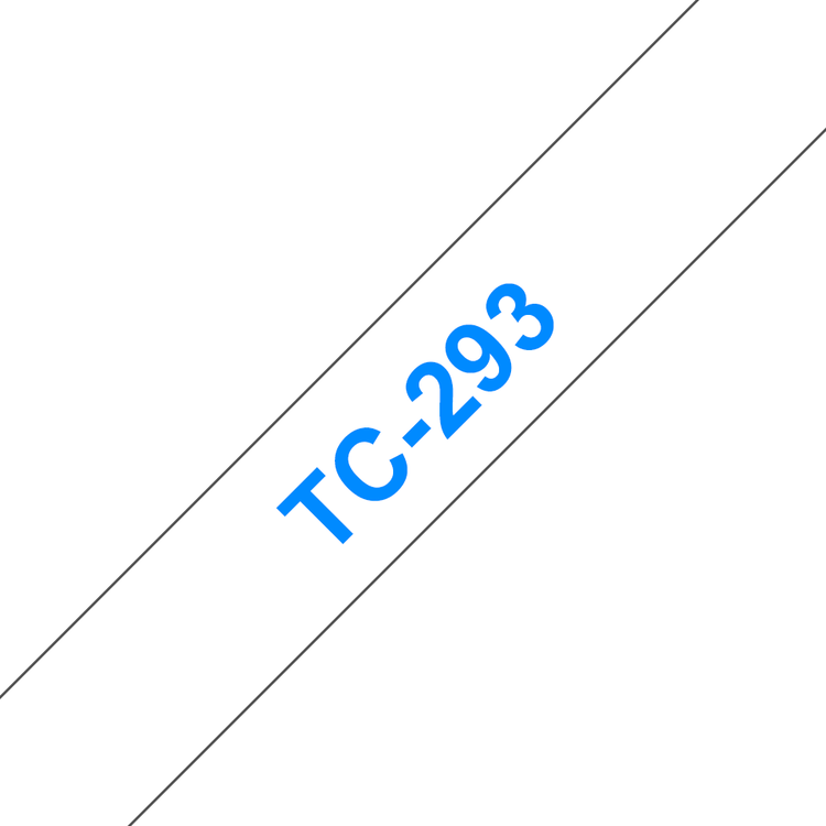 Brother TC-293 original etikettape, blå på vit, 9 mm