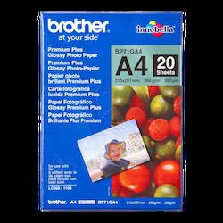 Brother BP71GA4 original blankt fotopapper A4