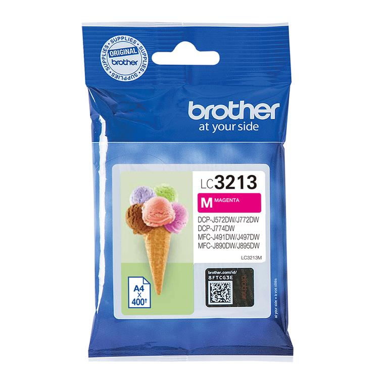 Brother LC-3213VALDR orginal bläckpatroner, multipack