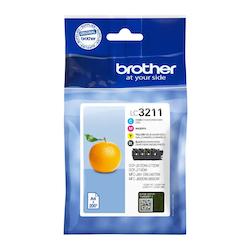 Brother LC3211VALDR orginal bläckpatroner, multipack