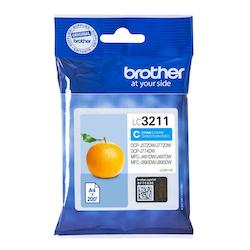 Brother LC3211C orginal bläckpatron, Cyan