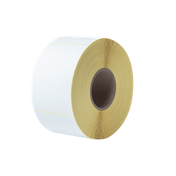 Brother BCS-1J150102-203 Etikettrulle, stansade, vita, premiumlaminerad 4-Pack