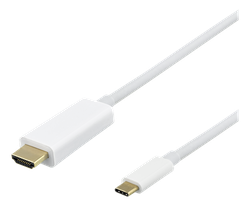 Deltaco USB Typ C -> HDMI 3m vit USBC-HDMI1031-K