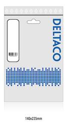 Deltaco USB 2.0 Typ C -> B 0,25m vit USBC-1017