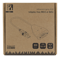 Deltaco USB till seriell adapter RS-232 DB9ha