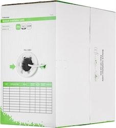 Deltaco U/UTP Cat6 installationskabel, LSZH, 305m box, 250MHz, Delta-certifierad, vit