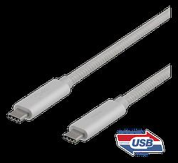 Deltaco USB 3.1 SS Typ C 1m silver USBC-1417M