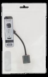 Deltaco USB 3.1 Typ C -> A OTG adapter aluminium rymdgrå USBC-1279