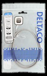 Deltaco USB 3.1 Typ C 1m silver USBC-1367