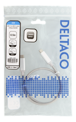 Deltaco USB 3.1 Typ C 0,5m silver USBC-1366