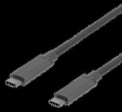 Deltaco USB 3.1 Typ C 1m grå USBC-1362