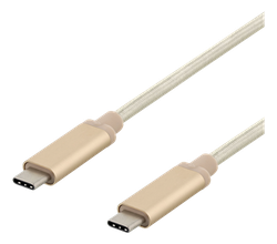 Deltaco USB 3.1 Typ C 1,5m guld USBC-1373