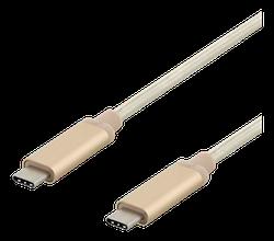Deltaco USB 3.1 Typ C 1m guld USBC-1372