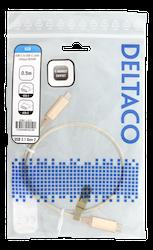Deltaco USB 3.1 typ C 0,5m guld USBC-1371