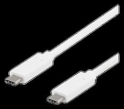 Deltaco USB 3.1 Typ C 1m vit USBC-1127