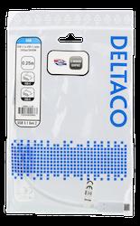 Deltaco USB 3.1 Typ C 0,25m vit USBC-1125