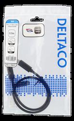 Deltaco USB 3.1 Typ C 0,5m svart USBC-1121