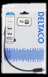 Deltaco USB 3.1 Typ C 0,25m svart USBC-1120