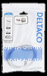 Deltaco USB 3.1 Typ C 1m vit USBC-1407