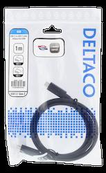Deltaco USB 3.1 Typ C 1m svart USBC-1402