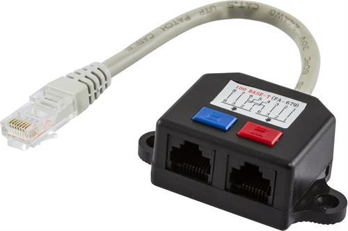 Deltaco 679-U Y-kabel för Cat5 1xRJ45 ha till 2xRJ45 ho UTP