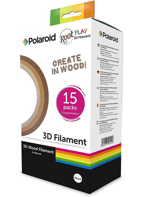 Polaroid 3D-FL-PL-2501-00 PEN filament 1.75 mm 15 rullar Trä