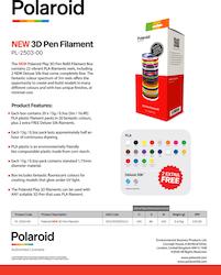 Polaroid 3D-FL-PL-2503-00 PEN PLA filament 1.75 mm 20-pack + 2 rullar