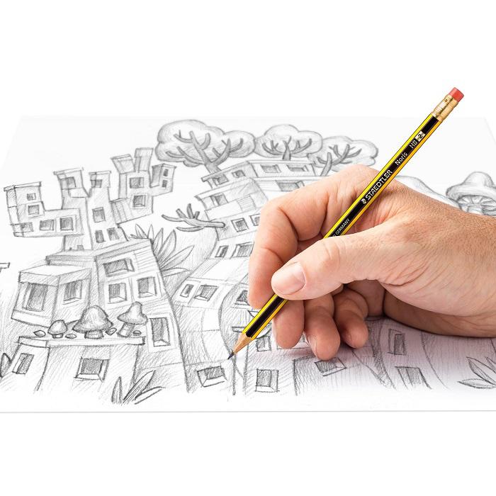 Staedtler Noris® Blyertspenna med radertopp HB