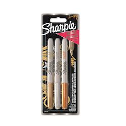 Sharpie Metallic märkpenna 1,4mm silver, guld, bronze 3-pack