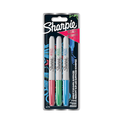 Sharpie Metallic märkpenna 1,4mm blå, grön, röd 3-pack