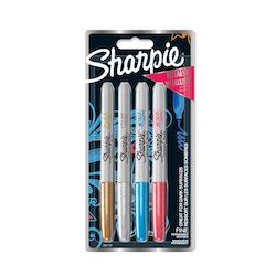 Sharpie Metallic märkpenna 1,4mm silver, guld, blå, röd 4-pack